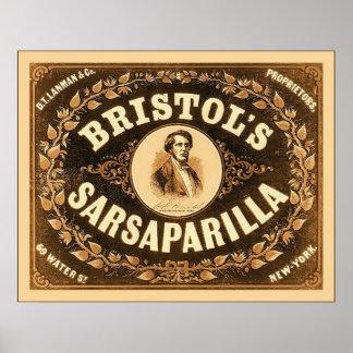 Bristol's Sarsaparilla ~ 1857~ Vintage Advertising Print