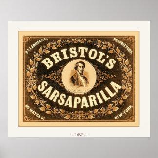 Bristol's Sarsaparilla ~ 1857~ Vintage Advertising Posters