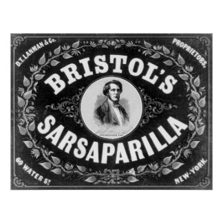 Bristols Sarsaparilla Vintage Poster