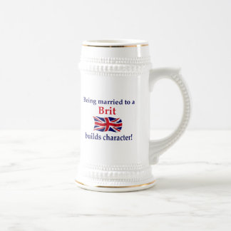 Brit Builds Character 18 Oz Beer Stein