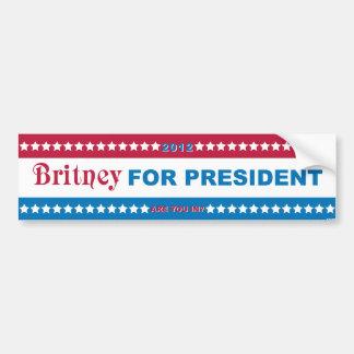 Brit for President! Bumper Sticker