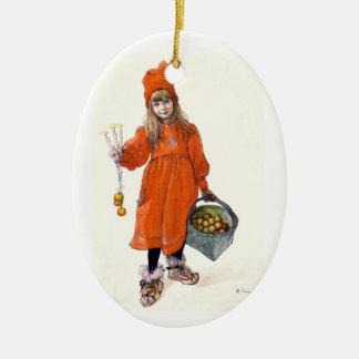 Brita as Iduna Ceramic Oval Ornament