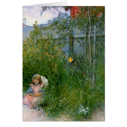 Brita in the Flower Bed c1897 Card
