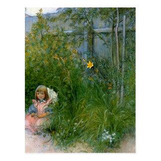 Brita in the Flower Bed c1897 Postcard