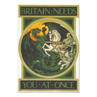 Britain Needs You At Once Dragon vs Knight Card