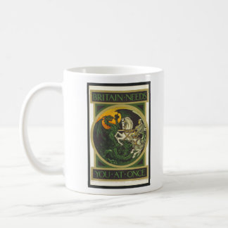 Britain Needs You At Once Dragon vs Knight Coffee Mug