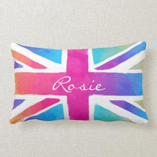 Britain Patriotism British Flag Tie Dye Lumbar Pillow