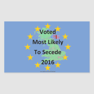 Britain Voted Most Likely to Secede 2016 White