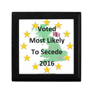 Britain Voted Most Likely to Secede 2016 White Keepsake Box