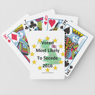 Britain Voted Most Likely to Secede 2016 White Poker Deck