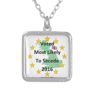 Britain Voted Most Likely to Secede 2016 White Silver Plated Necklace