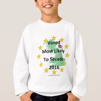 Britain Voted Most Likely to Secede 2016 White Sweatshirt