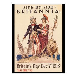 Britannia World War II Postcard