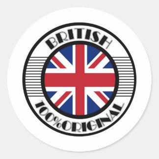 BRITISH 100%ORIGINAL ROUND STICKER