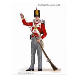 British 48th (Northamptonshire) Regiment 1812 Postcard