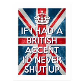 British Accent Postcard