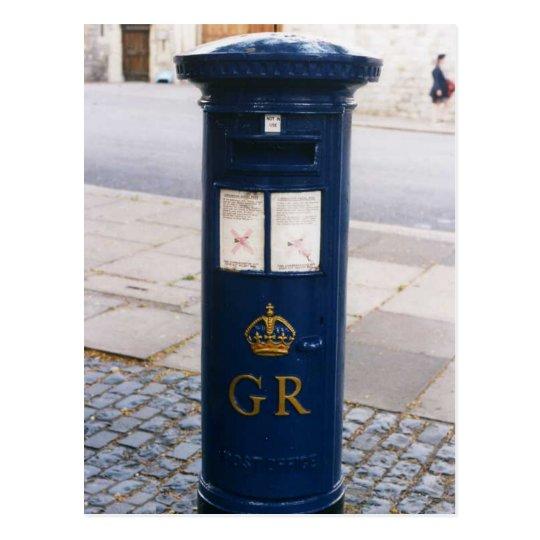 British Air Mail  Pillar Box Postcard