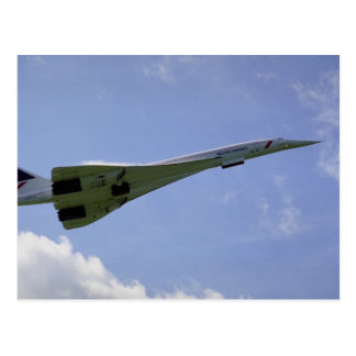 British Airways Concorde, taking off at Heathrow A Postcard
