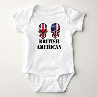 British American Flag Skulls Baby Bodysuit