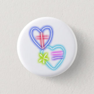 British-American Love across the miles 1 Inch Round Button