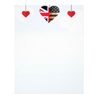 British American Love Hearts royal wedding Letterhead