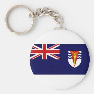 British Antarctic Territory Flag Basic Round Button Keychain