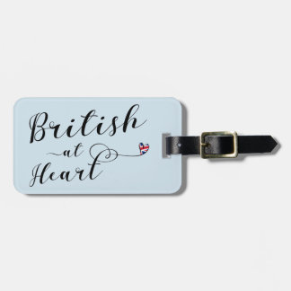 British At Heart Luggage Tag Template, UK
