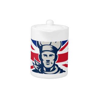 British Baker Chef Union Jack Flag Icon
