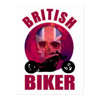 British Biker Skull Chop Post Card