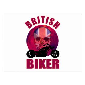 British Biker Skull Chop Postcard