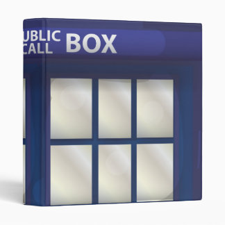 British Blue Police Box 3 Ring Binders