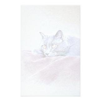 british blue shorthair cat art stationery