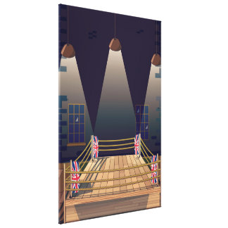 British Boxing ring Gym. Canvas Print