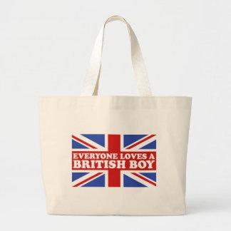 British Boy Large Tote Bag
