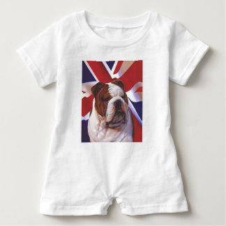BRITISH BULLDOG BABY ROMPER
