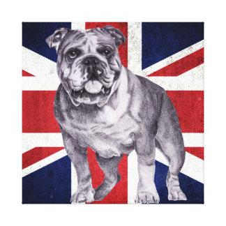 British Bulldog - English Bulldog Canvas