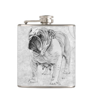 British Bulldog Hip Flask
