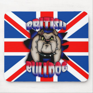 British Bulldog Mousemat Mousepad, Union Jack Mouse Pad