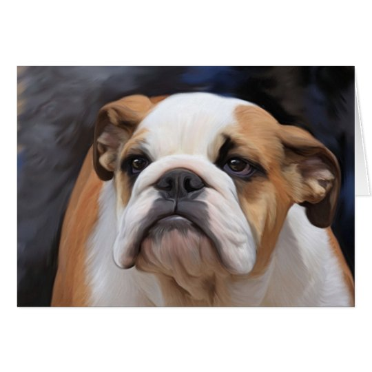 British Bulldog puppy Card