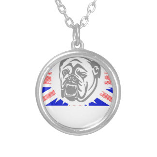 British Bulldog Silver Plated Necklace