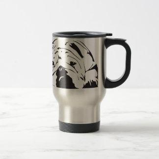 British Bulldog Stencil Travel Mug