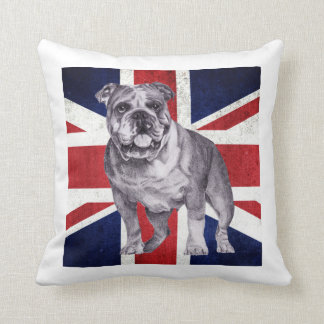 British Bulldog Union Jack Cushion by Tracy Stone