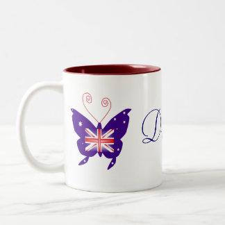 British Butterfly Diva Two-Tone Coffee Mug