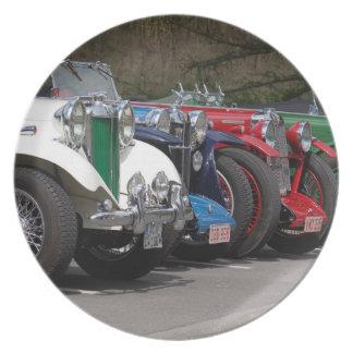 British cars, 1930ties, photo Jean Louis Glineur Party Plates
