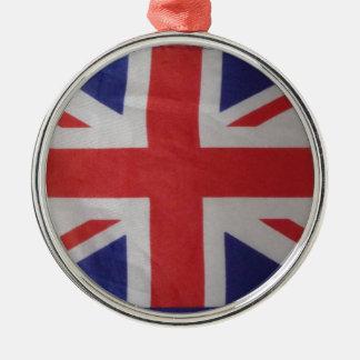 british christmas Silver-Colored round ornament