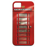 British City of London Red Phone Booth iPhone SE iPhone 5 Cases
