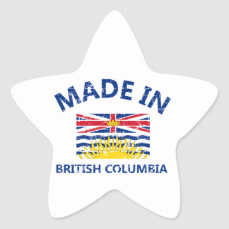 british colombia Coat of arms Star Stickers