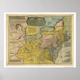 British Colonies America Map - 1771 Poster