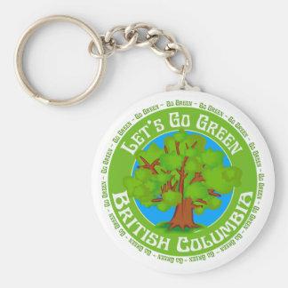 british columbia basic round button keychain