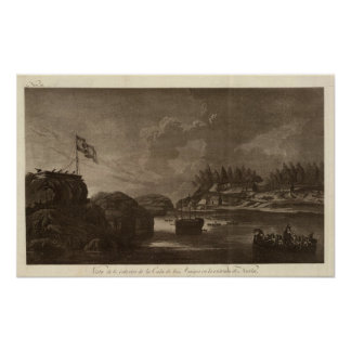 British Columbia battle with cannons Poster